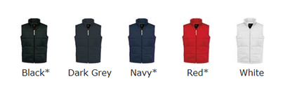 Male Padded Gilet Colour Choices