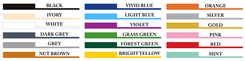 Wall Art Colour Chart